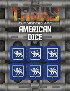 TANKS: The Modern Age - US Dice Set (6)